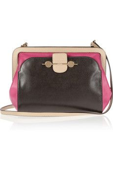 Jason Wu Daphne textured-leather and leather shoulder bag | THE OUTNET