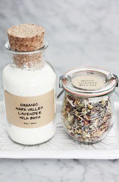 Organic lavender milk bath & bath tea