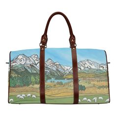 Pastures in Paradise Waterproof Travel Bag/Large (Model 1639)