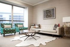Green, cream, pale taupe. Laura Wasser, Top LA Attorney On Designing Her New Office With Sayre Ziskin