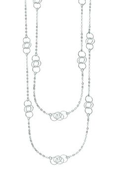 Sterling Silver Stationed Link & Chain Necklace