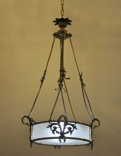 French Louis XVI Style Bronze and Brass Chandelier