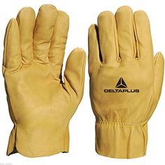 From 9.65 Delta Plus Fbh60 Water Repellant Cowhide Leather Work Gloves