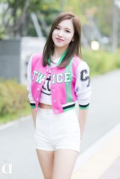 Nayeon, South Korean Girls, Korean Girl Groups, Asian Woman, Asian Girl, School Uniform Outfits, We Wear, How To Wear, Red T