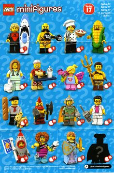 LEGO has kindly provided us with a box of series 17 minifigures to review, which I'll be starting this afternoon. In the meantime, here's the collectors' sheet and box distribution. Sorry, I am not at liberty to reveal the mystery figure yet but I can tell you that there are five of it in the box.