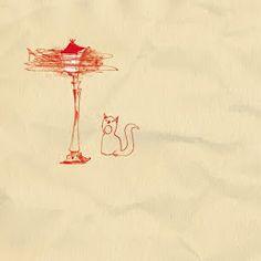 Mijn voorstel voor de schutblad van De Rode Lantarnpaal. Ik vind het nog steeds heel mooi...