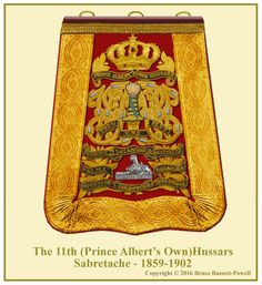(Prince Albert's Own) Hussars, Officer's Sabretache, British Uniforms, Prince Albert, Family Crest, British Army, Military History, Badges, Egyptian, Empire, 18th