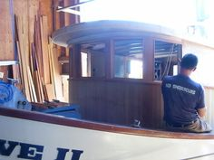 This is Native II. This is a typical repair to a fishboat house. Usually the original plywood rots out and then affects the timbers. Fort...