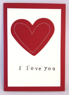 Handmade Stitched Personalised 'I love you' by NaisyHomemade