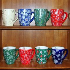 Starbucks Barista Chrismas Mugs - they don't really belong on my food board but they are coffee related, and pretty.