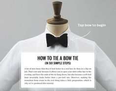 How to tie a bow tie, and other formal-wear questions solved on the Tux App - from MrPorter.com