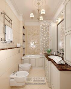Beige Bathroom Design Idea and Photo