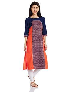 Material: Rayon with three quarter sleeve and round neck Straight fit Calf length