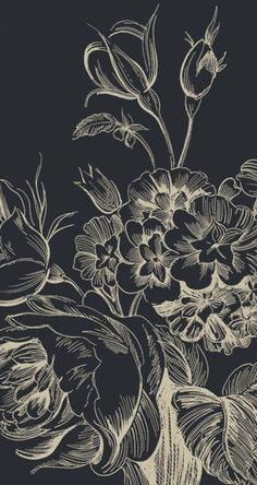 Black floral | Find fun fabrics for your next project www.myfabricdesigns.com