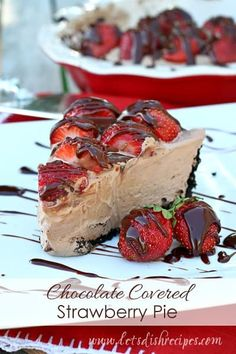 Whenever I have an abundance of strawberries my husband's first request is for strawberry pie. So I decided to combine his love of strawberry pie with his love of chocolate covered strawberries in this Chocolate Covered Strawberry Pie. The combination of creamy chocolate filling with fresh strawberries and chocolate ganache was brilliant! Honestly, the chocolate...Read More
