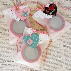 Washi Goody Bags by Kathy Martin using Pebbles' Yours Truly collection.