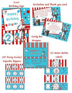 Dr. Seuss Cat in the Hat Birthday Party Package