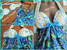 Brassiere + Blouse = Top to the beach / DIY by Iwakki.