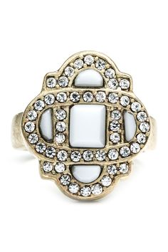 Glass Art Deco Ring <3