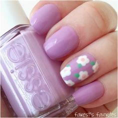 Purple Base With White Daisies