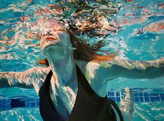 Beneath the Surface: Sublime Underwater Portraits by Samantha French swimming portraits painting French Paintings, Original Paintings, Oil Paintings, Realistic Paintings, Underwater Painting, Underwater Photos, Underwater Photography, Film Photography, Street Photography