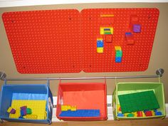My Lego Duplo Wall !      Mommy and Daddy were tired of all my Duplos all over the floor so they came up with a solution      Daddy screwe...