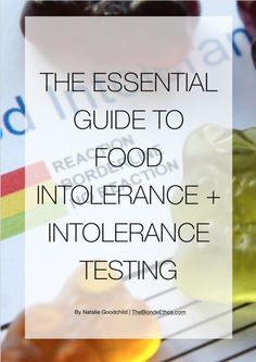 The Essential Guide to Food Intolerance + Intolerance Testing | Download for free at The Blonde Ethos