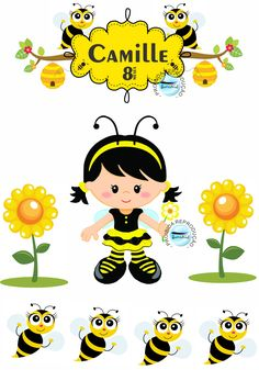 Abelinha Classic Cartoon Characters, Classic Cartoons, Bee Pictures, Welcome To School, Bee Party, Bee Theme, Cake Decorating Techniques, Mason Jar Crafts, Print And Cut