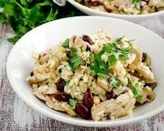 Salade de riz au poulet et haricots rouges Ingrédients