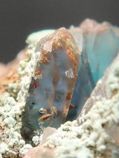 Minerals and Crystals — Quartz with Ajoite inclusions - Artonvilla mine,...