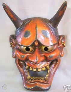 Japanese Hannya Mask, Japanese Mask, Japanese Tattoo Meanings, Japan Tattoo Design, Drawing Ideas List, Hannya Tattoo, Oni Demon, Japanese Drawings, Horror Artwork