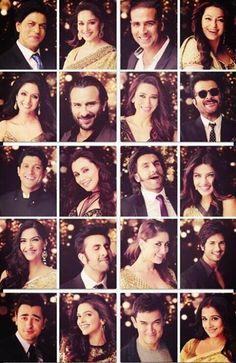 Faces of Bollywood! Bollywood Couples, Bollywood Photos, Indian Bollywood, Bollywood Stars, Bollywood Fashion, Deepika Padukone, Sonam Kapoor, Ranbir Kapoor, Shahid Kapoor