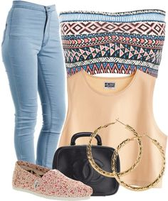 """#601 ;"" by laymarie ❤ liked on Polyvore.       Change the shoes to brown Jeffery Campells"