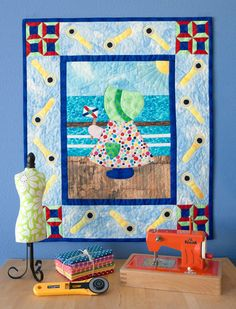 """On a Quilting Cruise with Sunbonnet Sue"" from A Year in the Life of Sunbonnet Sue"