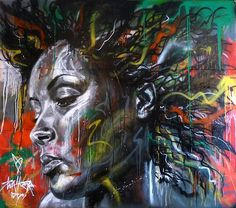 Artist David Walker creates beautiful portraits using spray paint only, and without ever using a brush.