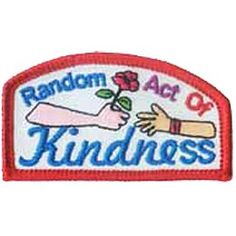 Random Act of Kindness, Rose, Helping, Help, Hand, Community Service, Girl, Boy, Patch, Merit Badge, Scouts, Guides