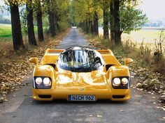 962 Le Mans, very rare example of a race car that's road legal. 750 turbohorses under the bonnet. Bugatti, Lamborghini, Ferrari F1, Le Mans, Supercars, Yellow Car, Automotive Design, Car Photos, Fast Cars