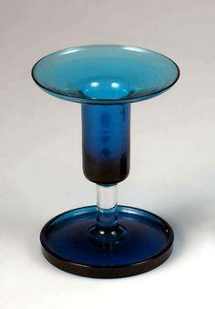"NANNY STILL - Candleholder ""Harlekiini"" series designed in 1958 for Riihimäen Lasi Oy, in production Finland."