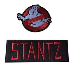 3e63f9762c0b Ghostbusters No Ghost With Venkman Red on Black Name Tag Costume Patch Set  of 2 for sale online