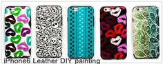 Painted leather cover for iPhone6 ,any color,any pattern. made by gadget2us