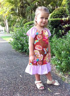 Butterfly Breeze Dress.  Looks like an easy dress to sew though no pattern or tutorial included.