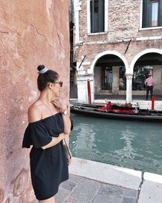 """Enjoying Venice in my dress! 💙 Already in love with this city🙌🏼 Venice Travel, Shoulder Dress, City, Instagram, Dresses, Fashion, Vestidos, Moda, Fashion Styles"