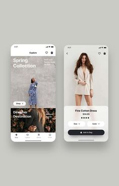 Fancy Fashion App UI Kit is a pack of delicate UI design screen templates that will help you to design clear user interfaces for fashion ecommerce shopping apps like Zara, ASOS or H&M faster and easier. Compatible with Sketch App, Figma & Adobe XD Web And App Design, Web Design Trends, Flat Design, Ux Design, Print Design, Ui Kit, Ecommerce Webdesign, Responsive Web, Ui Design Mobile