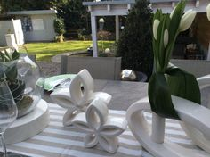 TIZIANO Frühlingsdekoration Flora weiße Tulpen