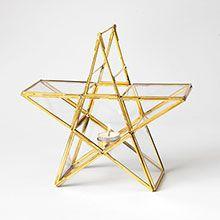 Standing Star Glass Tealight Holder - £30.00 from Traidcraft