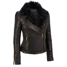 Wilsons Leather Asymmetrical Cinch Side Leather Cycle w/Fur Collar Was: $750.00                     Now: $329.99
