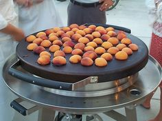 Grilled peaches on Evo Circular Cooktop