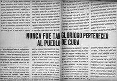 Nunca fue tan glorioso pertenecer al pueblo de cuba