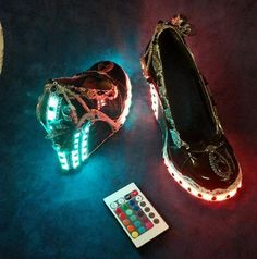 "steampunksteampunk: ""rad steampunk remote controlled led light up club shoes HotAirBalloonRide """