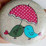 Painted Rocks – More than 300 Picture Ideas – Arts And Crafts – All DIY Projects Pebble Painting, Pebble Art, Stone Painting, Rock Painting, Stone Crafts, Rock Crafts, Diy Arts And Crafts, Pet Rocks, Rock Design